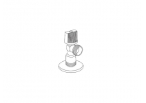 """Кран шаровый угловой Royal Thermo Optimal для подкл. с/т приборов 1/2""""х3/4"""""""
