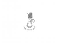 """Кран шаровый угловой Royal Thermo Optimal для подкл. с/т приборов 1/2""""х1/2"""""""